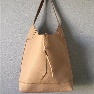 "J.Crew ""Downing"" Tumbled Leather Bucket Bag - EUC"